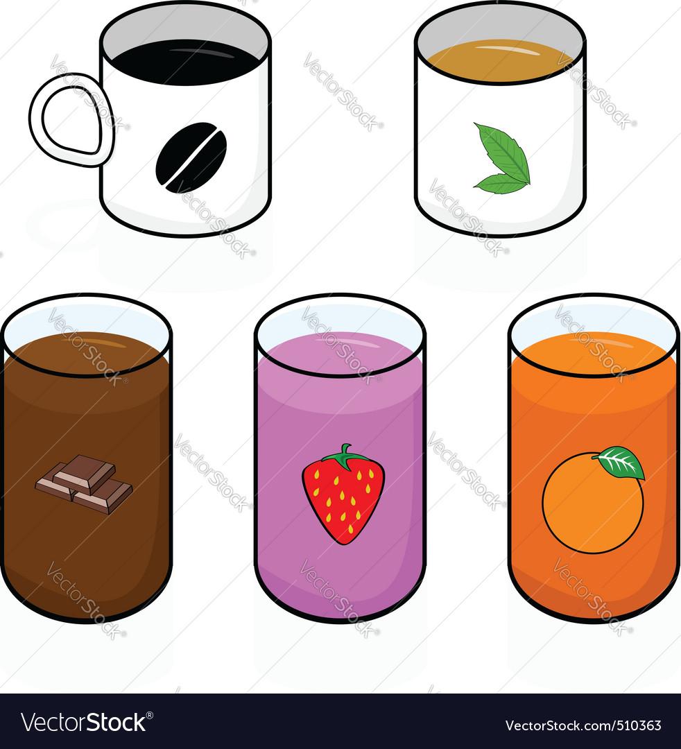 Breakfast beverages vector | Price: 1 Credit (USD $1)