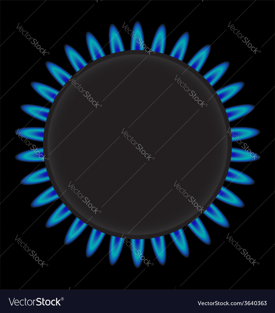 Burning gas ring stove vector | Price: 1 Credit (USD $1)