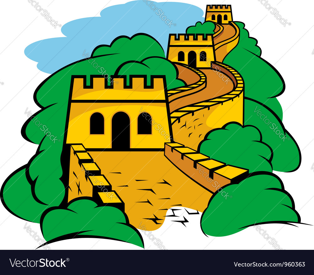 Chinese great wall vector | Price: 1 Credit (USD $1)