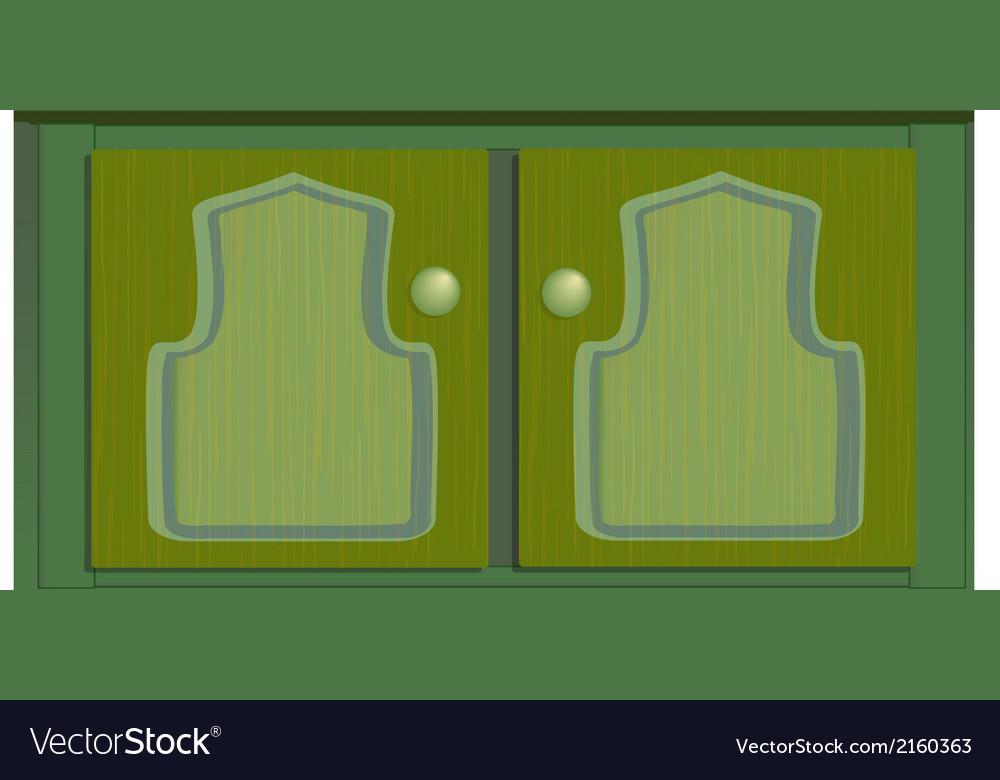 Cupboard green vector | Price: 1 Credit (USD $1)