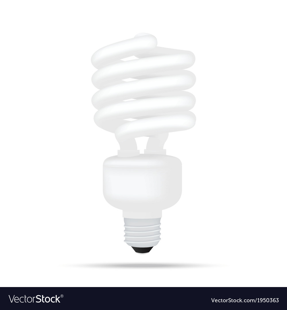 Popular compact fluorescent lamps white energy sav vector | Price: 1 Credit (USD $1)