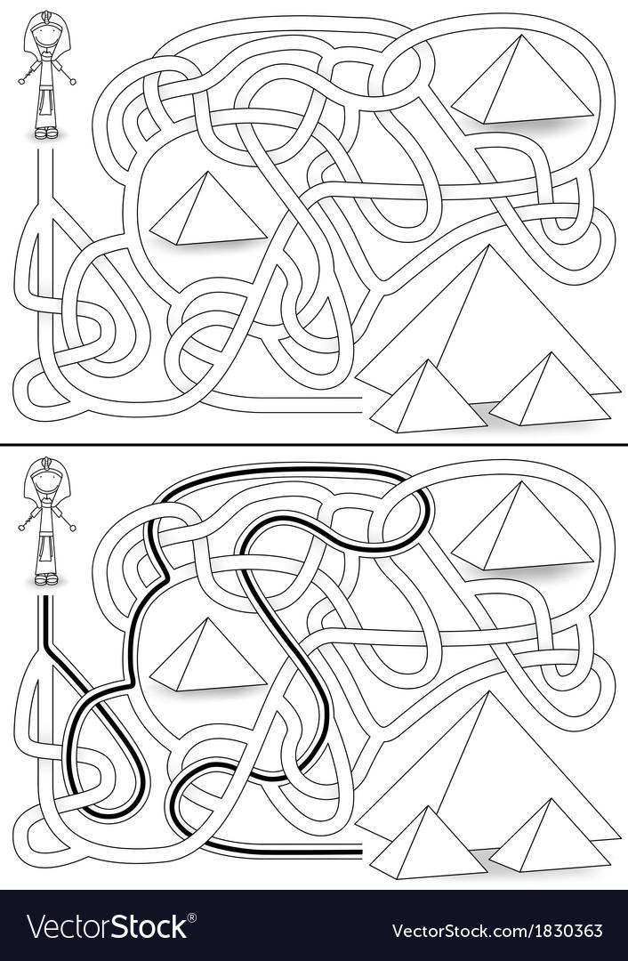 Pyramid maze vector | Price: 1 Credit (USD $1)