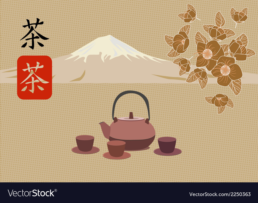Sakura tea ceremony vector | Price: 1 Credit (USD $1)