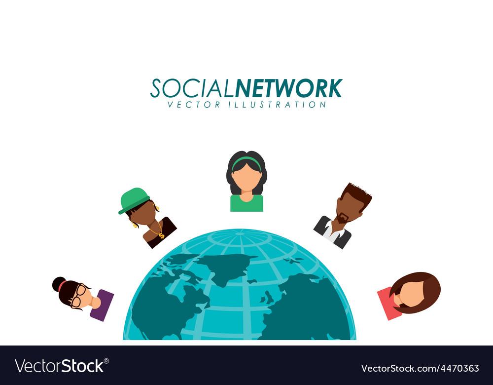 Social network vector | Price: 1 Credit (USD $1)