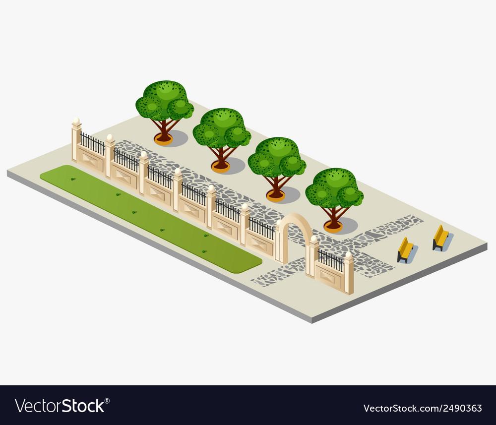 Urban garden vector | Price: 1 Credit (USD $1)