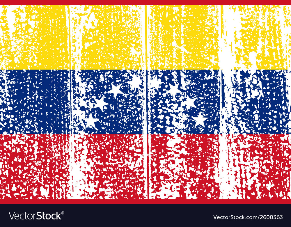 Venezuelan grunge flag vector | Price: 1 Credit (USD $1)