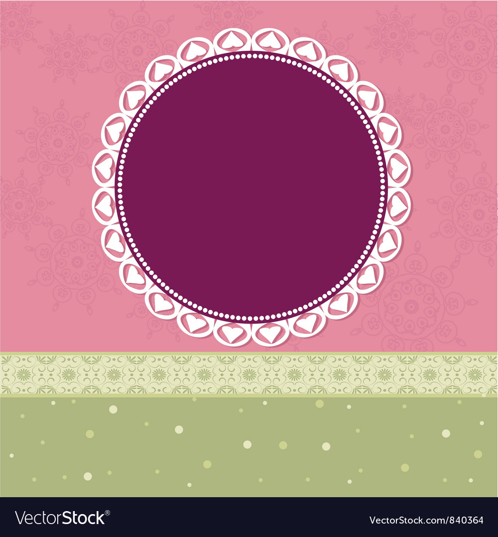 Arabesques pattern frame vector   Price: 1 Credit (USD $1)