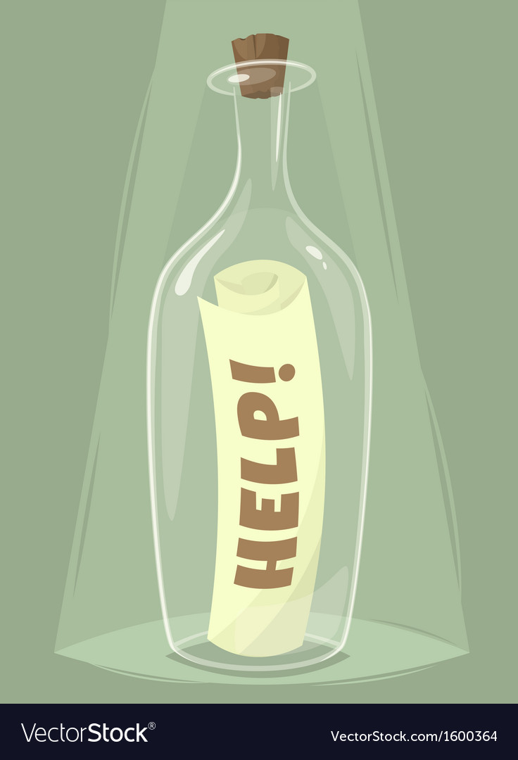 Bottle of help vector | Price: 1 Credit (USD $1)