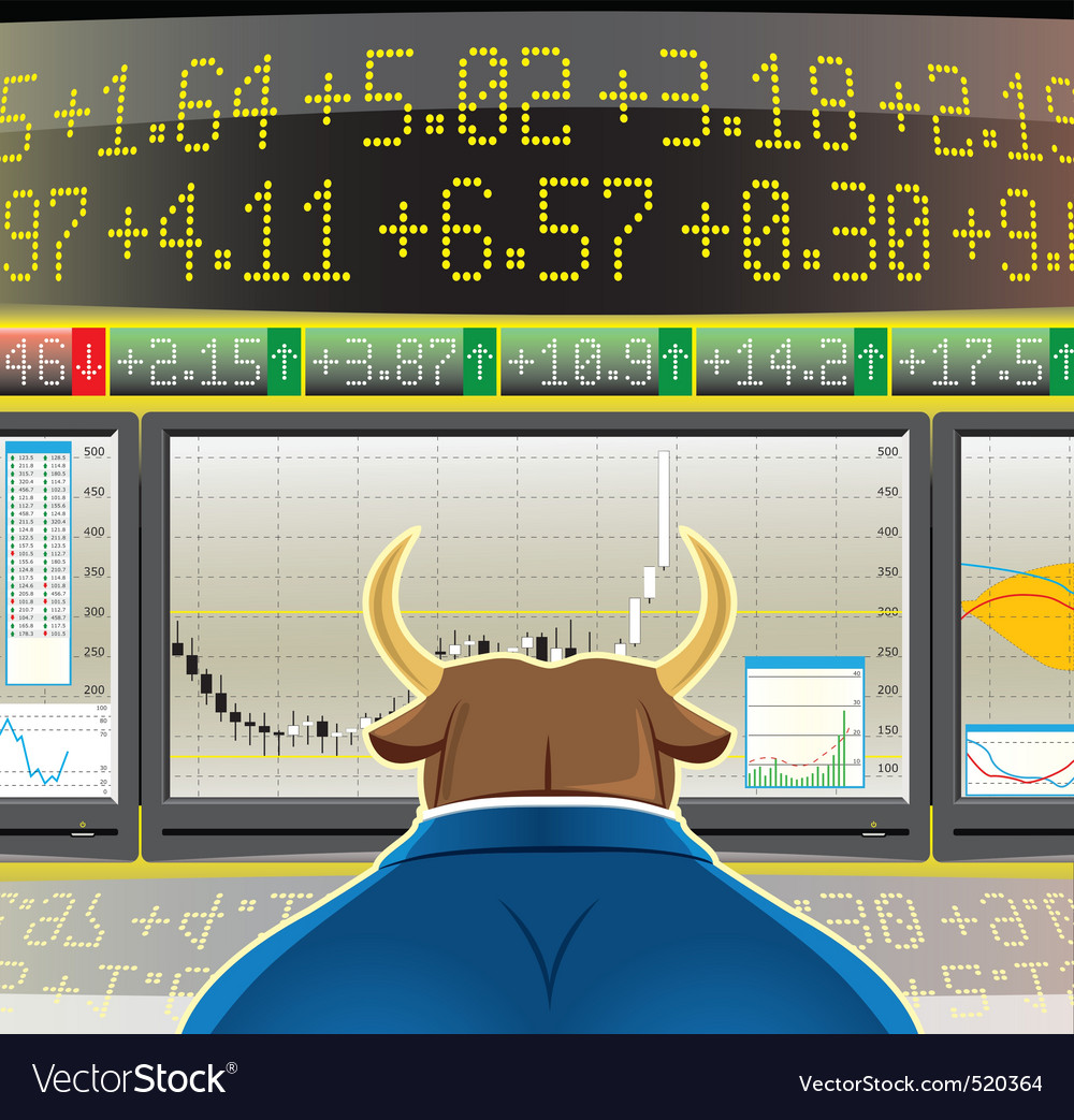 Bull market vector | Price: 3 Credit (USD $3)