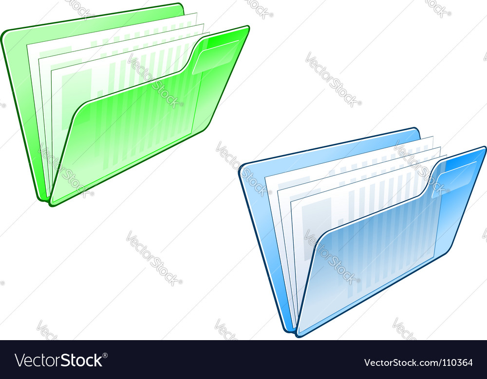 Computer folder icon vector | Price: 1 Credit (USD $1)