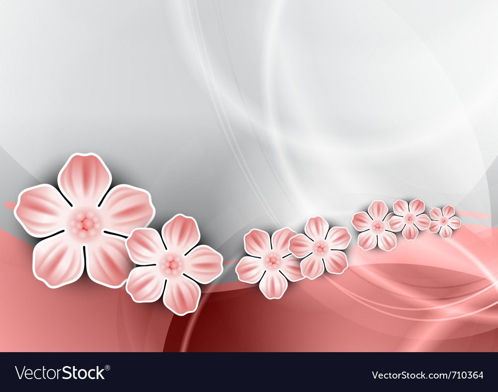 Flowers on the pink wave vector | Price: 1 Credit (USD $1)