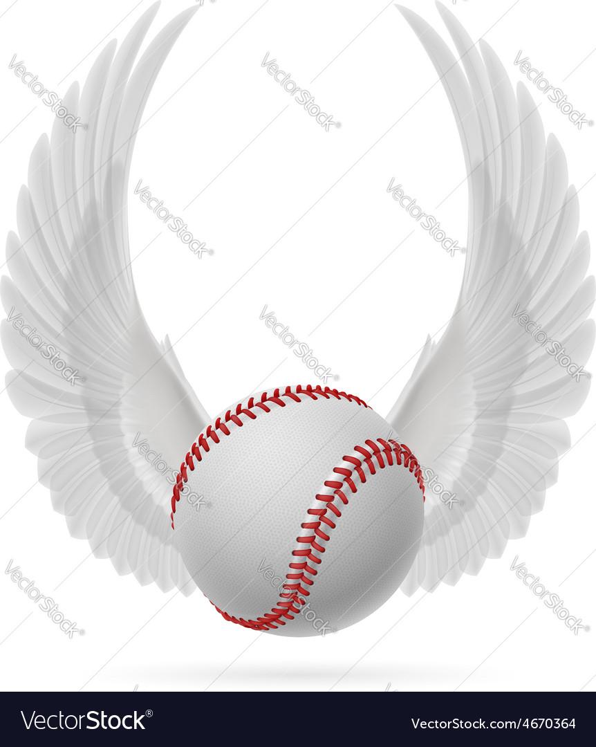 Flying baseball vector | Price: 1 Credit (USD $1)