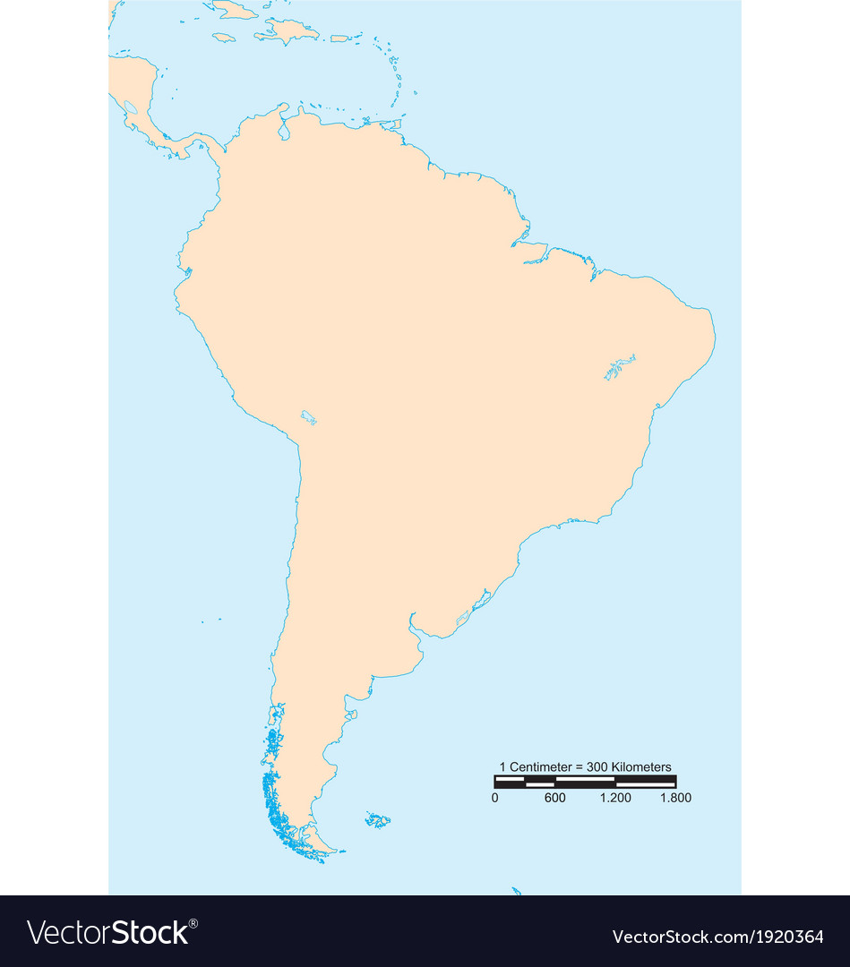 Map of south america vector | Price: 1 Credit (USD $1)