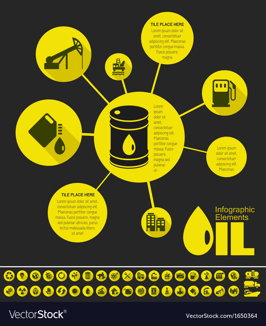 Oil industry infographic template vector   Price: 1 Credit (USD $1)