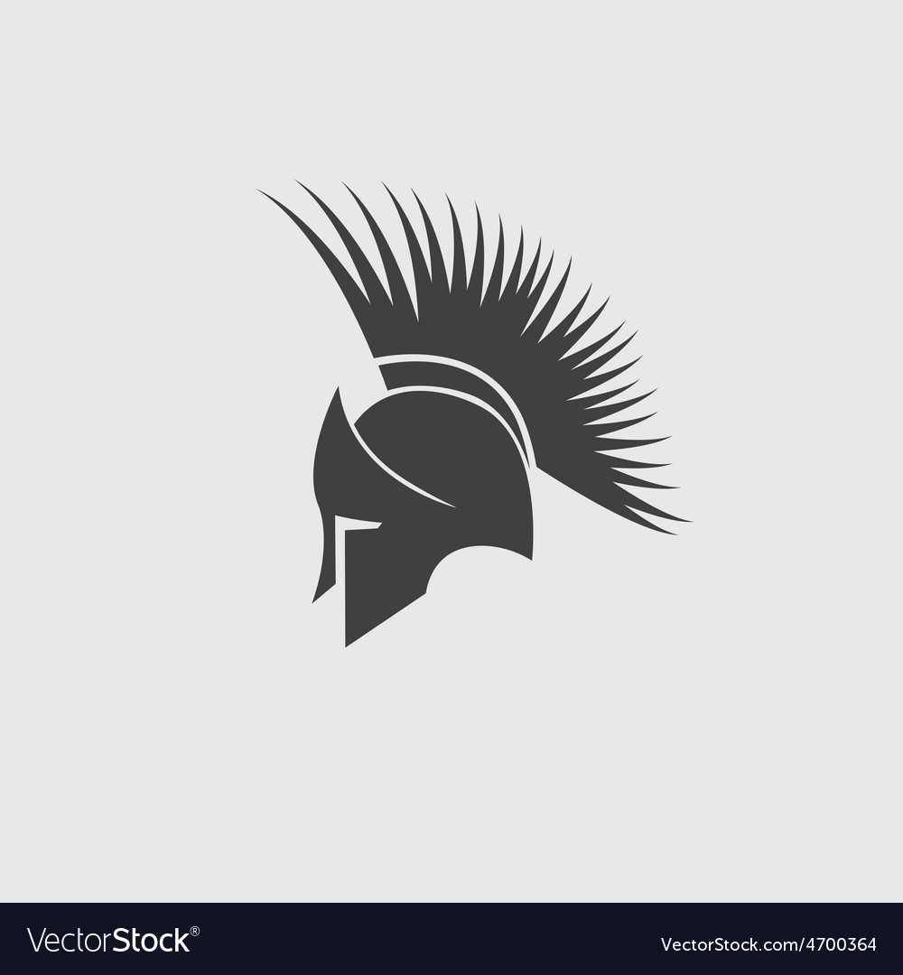 Old vintage antiques spartan warrior design vector | Price: 1 Credit (USD $1)