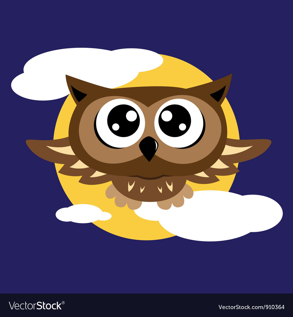 Owl flying vector | Price: 1 Credit (USD $1)