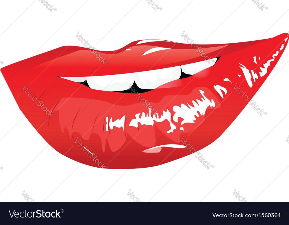 Sensual red lips vector | Price: 1 Credit (USD $1)