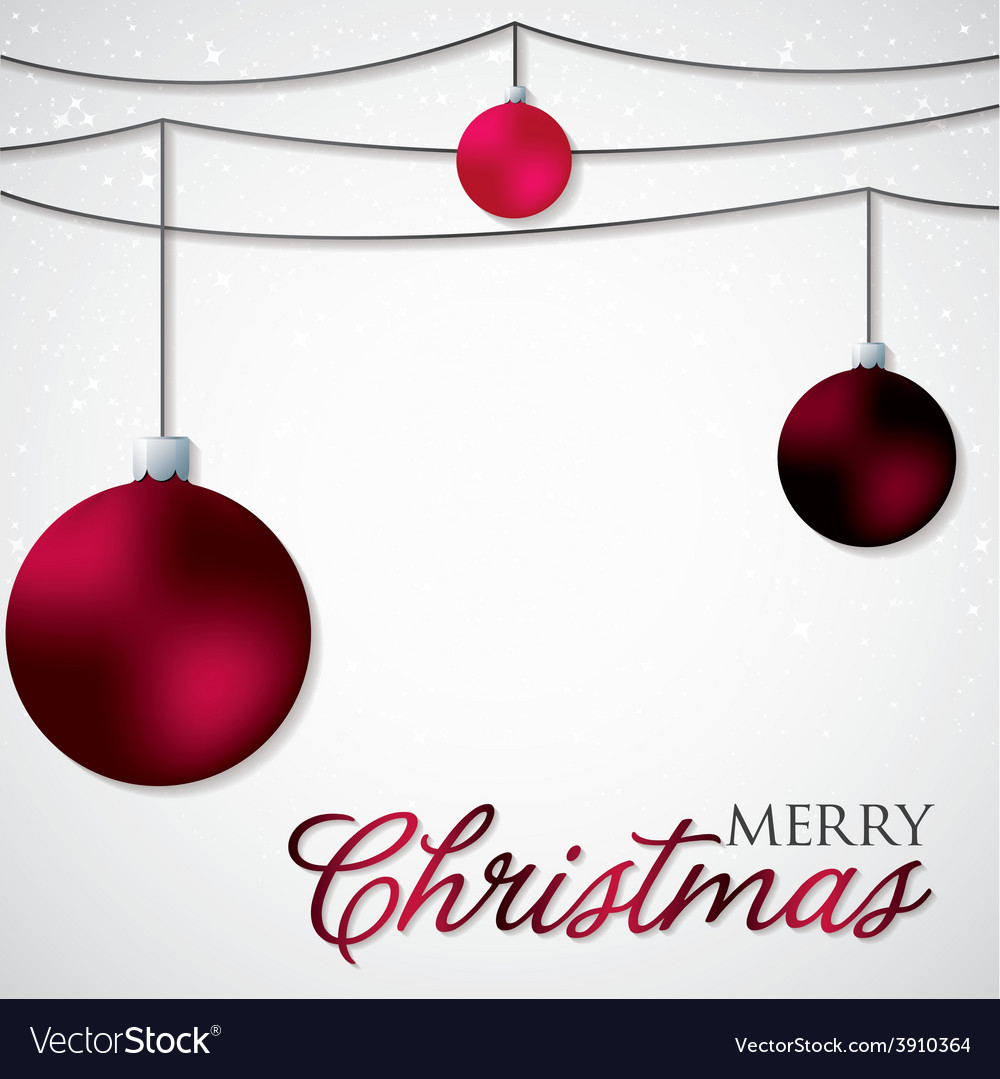 Simple elegant bauble christmas card in format vector | Price: 1 Credit (USD $1)