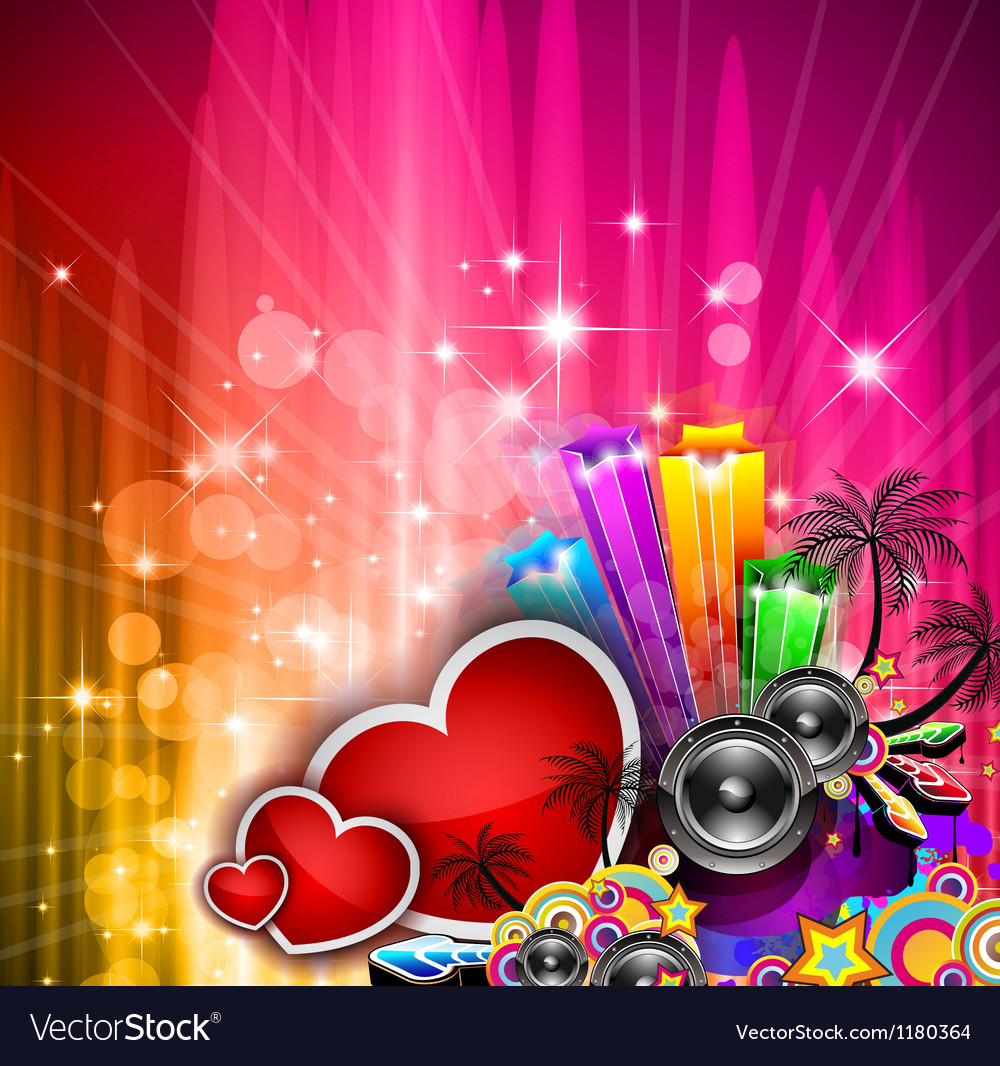 Valentines day party invitation flyer background vector | Price: 1 Credit (USD $1)