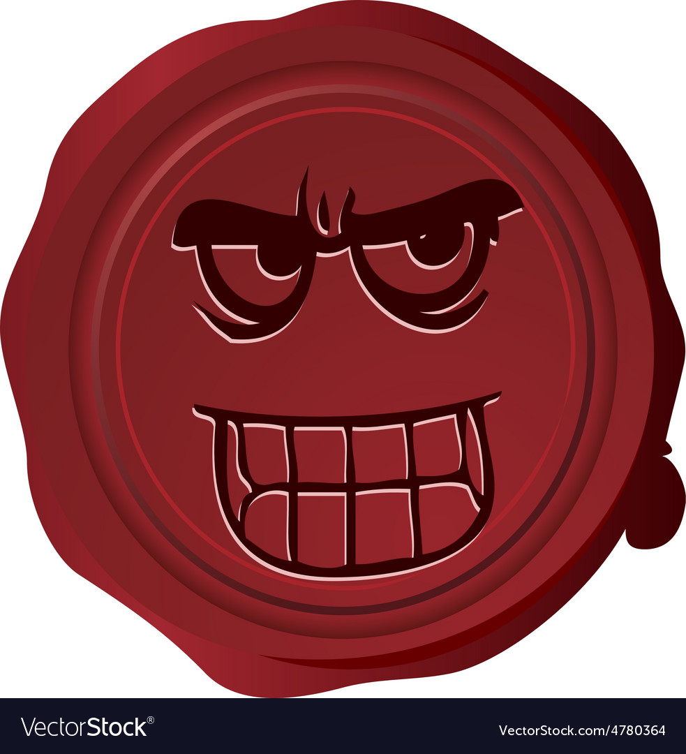 Wax seal smiley 18 vector | Price: 1 Credit (USD $1)