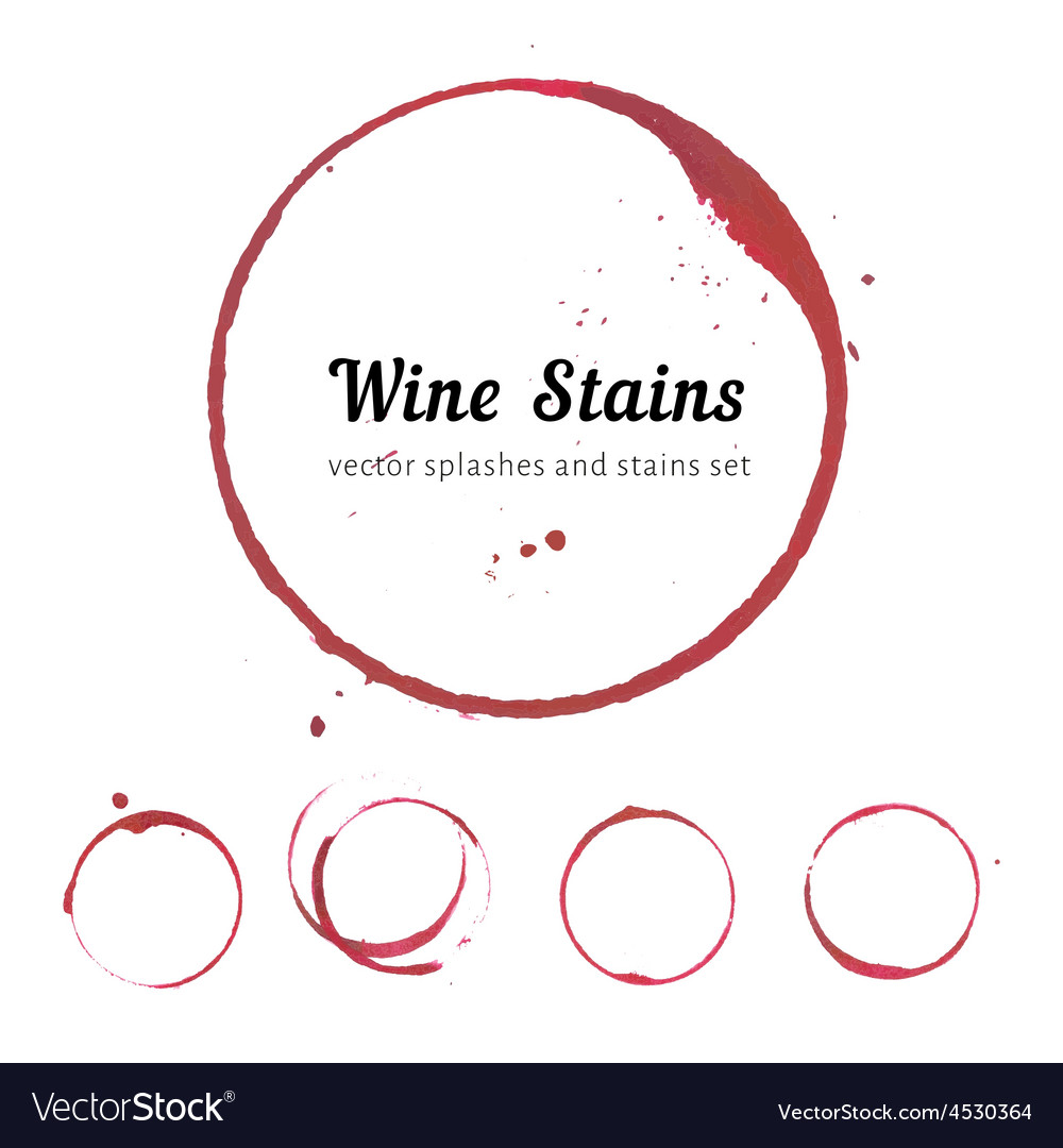 Wine stain circles vector | Price: 1 Credit (USD $1)