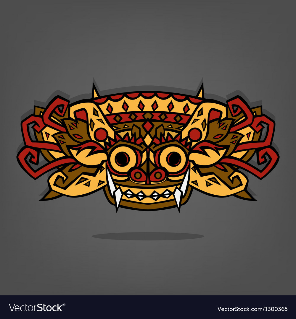 Barong balinese traditional art vector | Price: 1 Credit (USD $1)