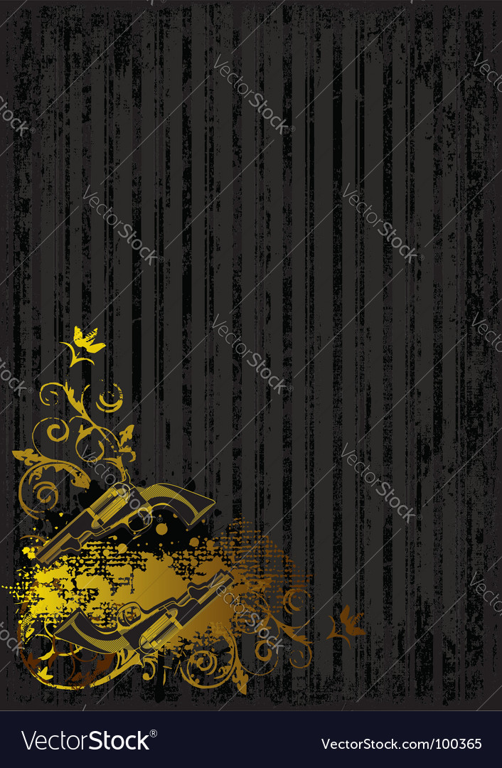 Black background with golden guns vector | Price: 1 Credit (USD $1)