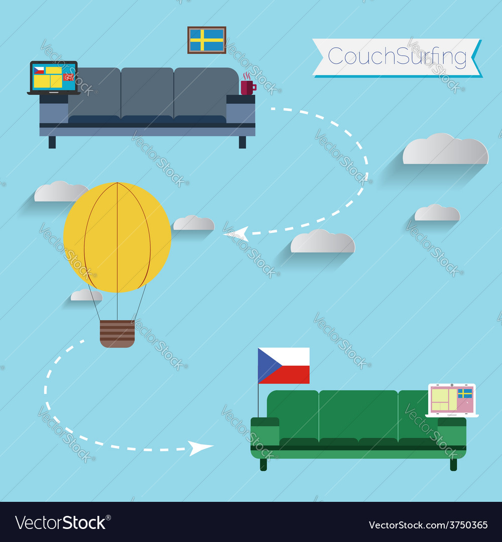 Couchsurfing vector | Price: 1 Credit (USD $1)
