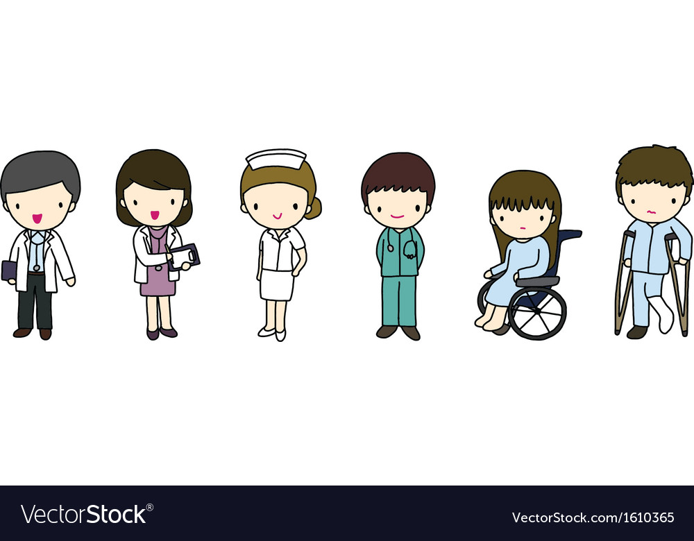 Doctors nurse and patients vector | Price: 1 Credit (USD $1)