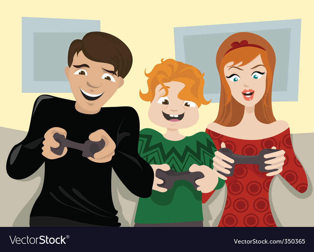 Family fun vector | Price: 3 Credit (USD $3)