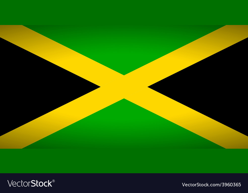 Flag of jamaica vector | Price: 1 Credit (USD $1)