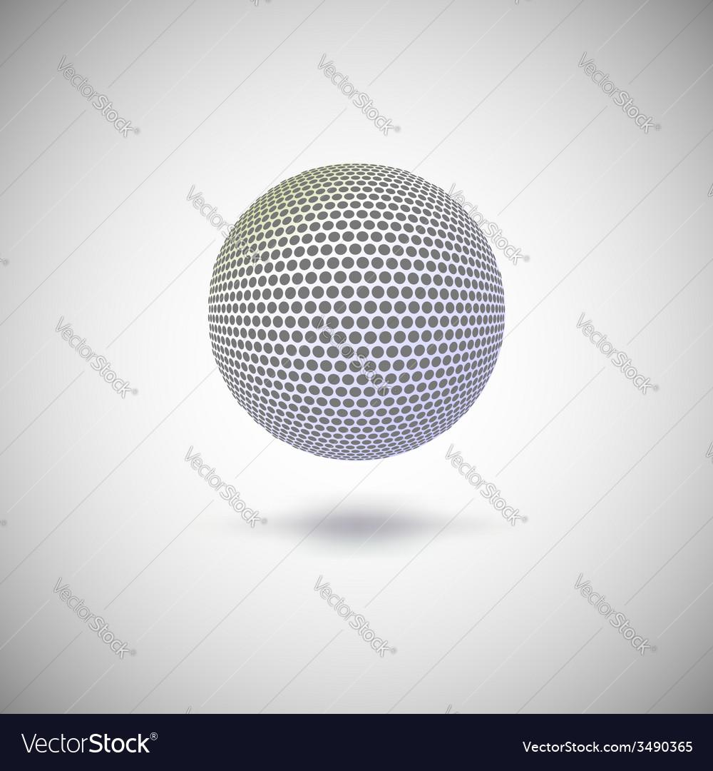 Halftone color sphere vector | Price: 1 Credit (USD $1)