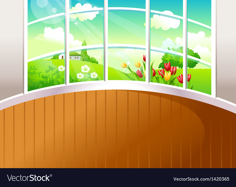 Home landscape view vector | Price: 1 Credit (USD $1)