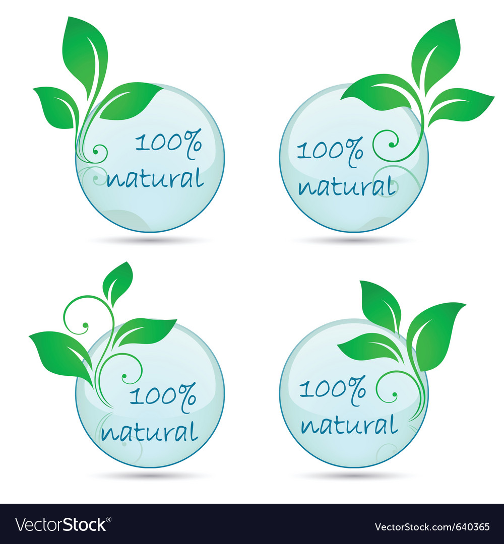 Icons 100 natural vector | Price: 1 Credit (USD $1)
