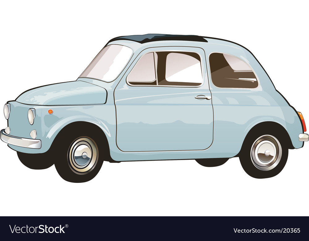 Italian retro car vector | Price: 1 Credit (USD $1)