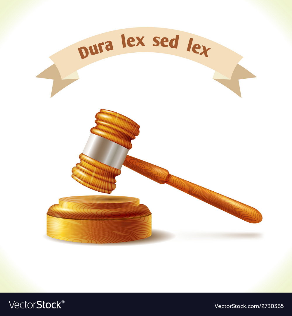 Law icon judge gavel vector | Price: 1 Credit (USD $1)