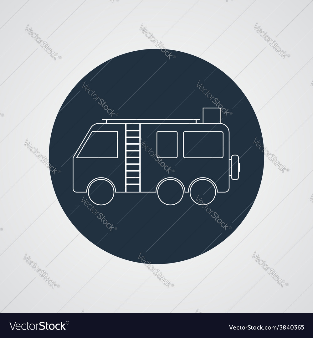 Motorhome camper van icon flat design vector | Price: 1 Credit (USD $1)