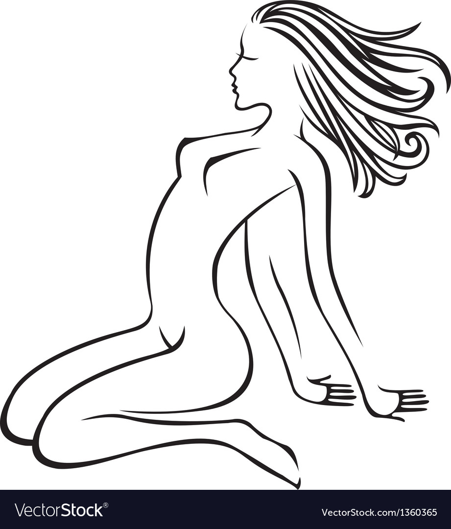 Naked girl vector | Price: 1 Credit (USD $1)