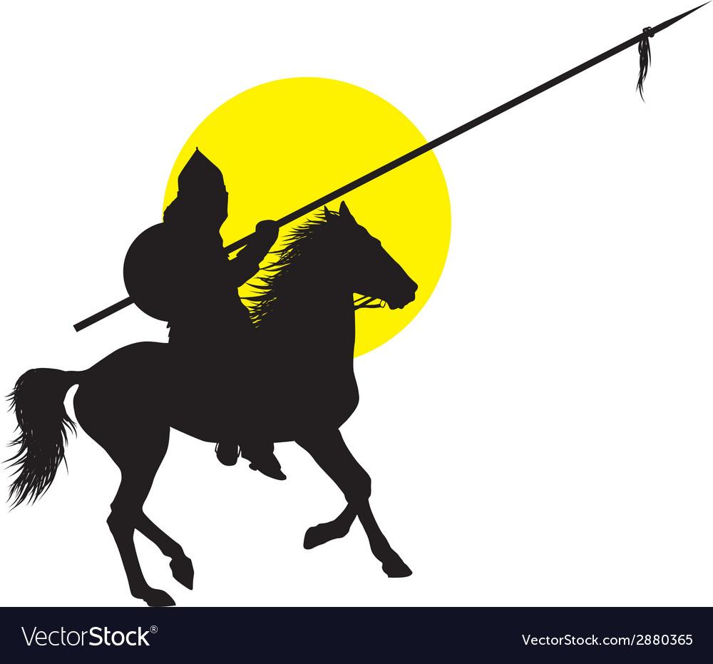 Oriental horseman vector | Price: 1 Credit (USD $1)