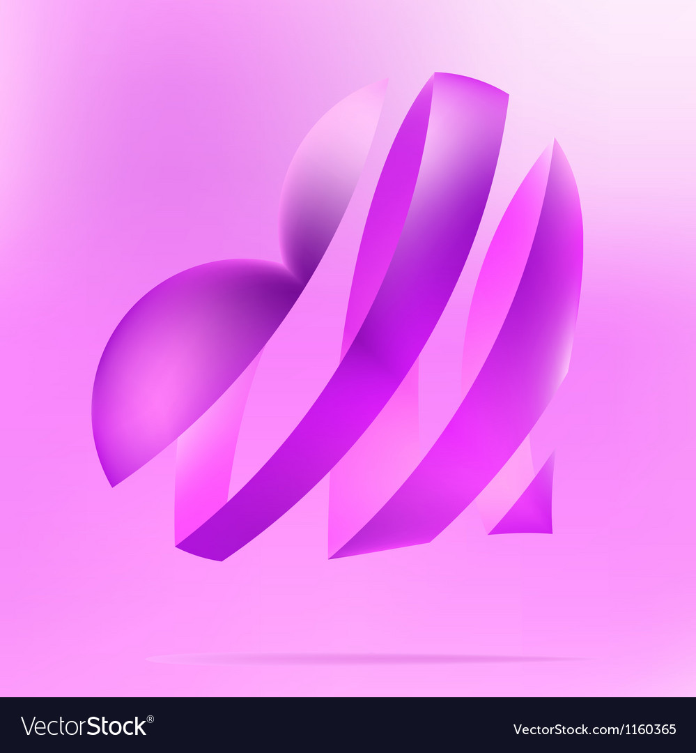 Purple heart on a light background  eps8 vector | Price: 1 Credit (USD $1)
