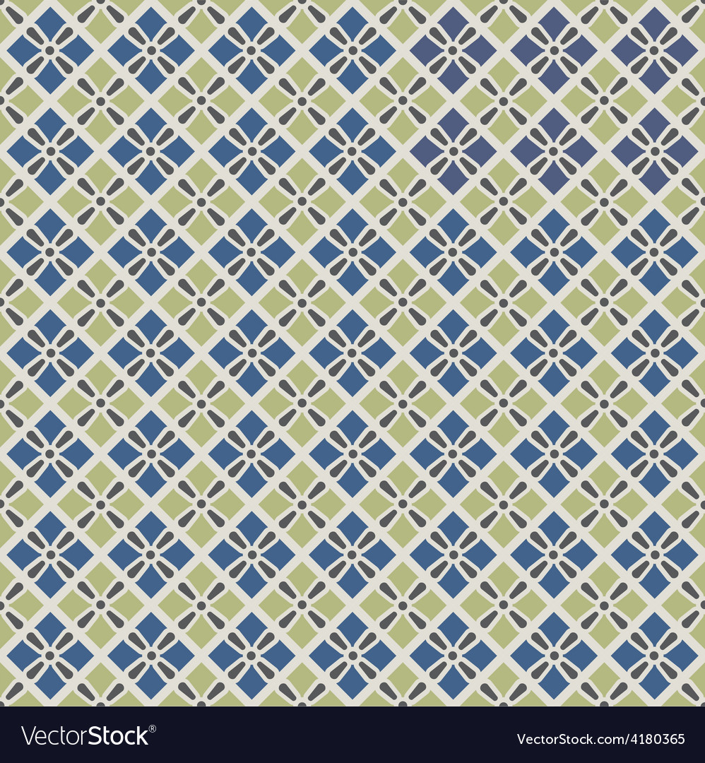 Retro geometric seamless pattern in blue and grey vector | Price: 1 Credit (USD $1)