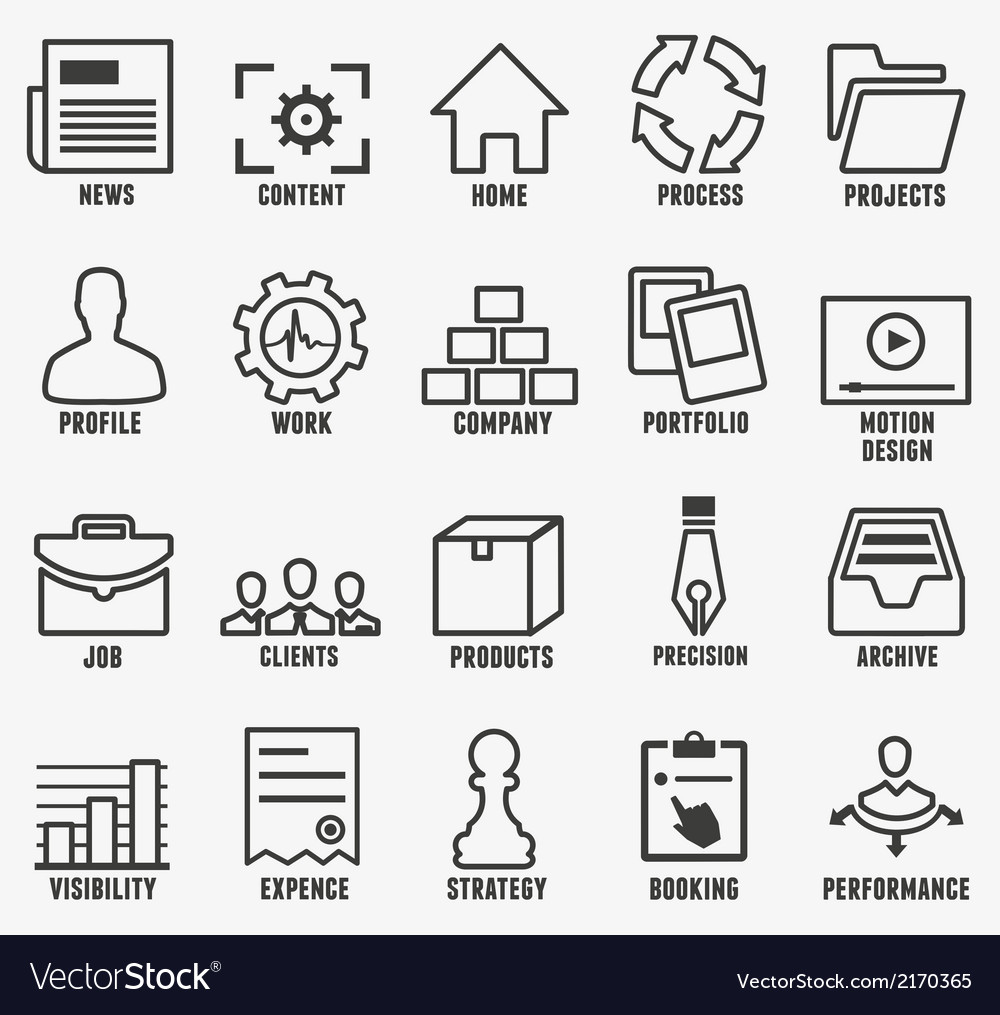 Set of outline seo and internet service icons vector | Price: 1 Credit (USD $1)