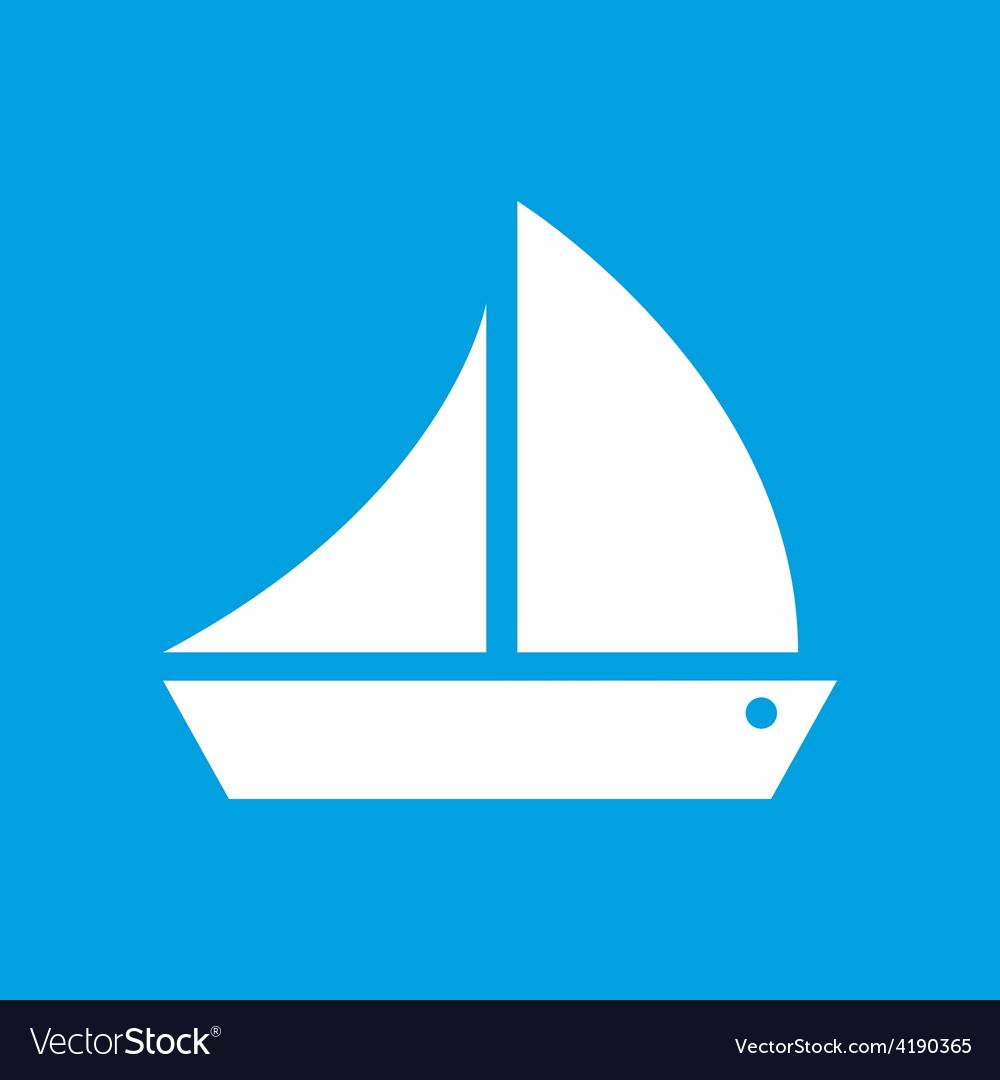 Ship white icon vector | Price: 1 Credit (USD $1)