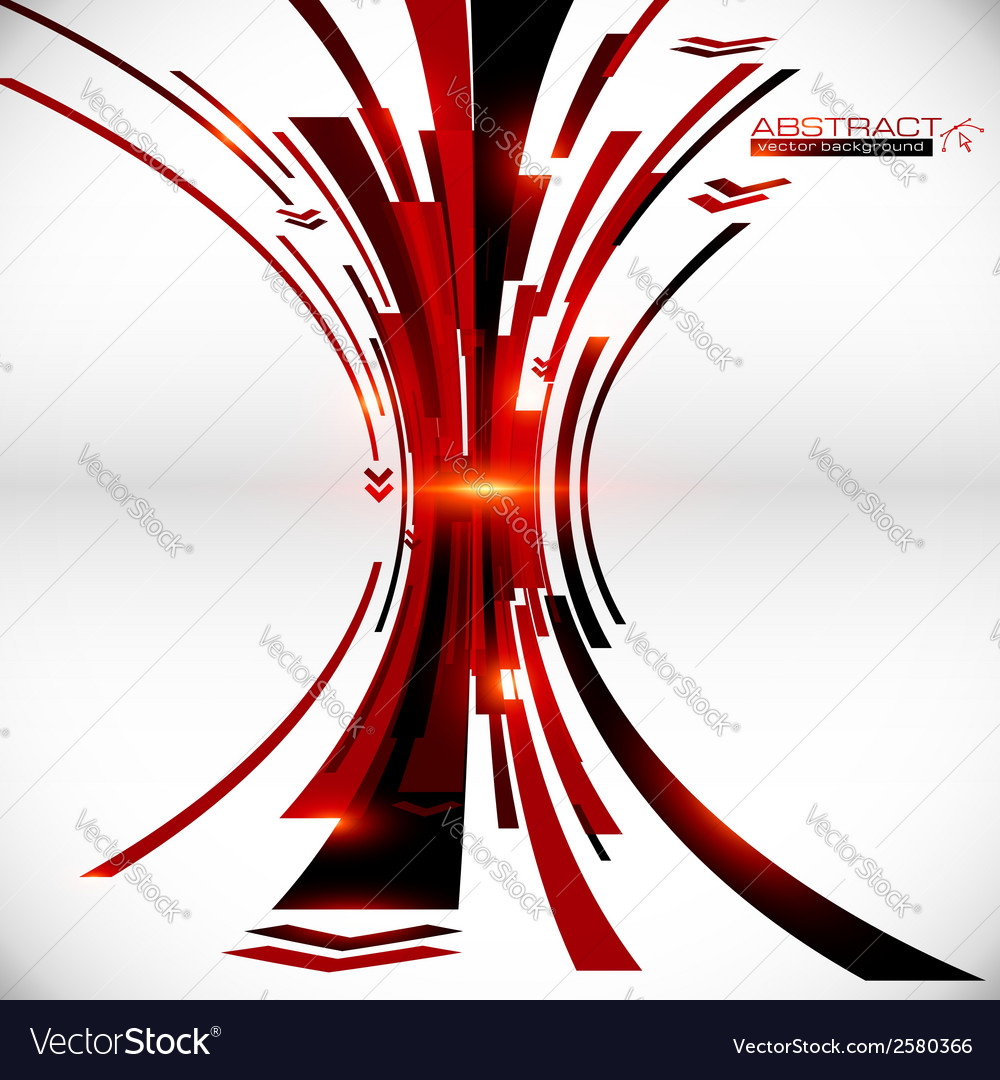 Abstract black and red perspective techno vector   Price: 1 Credit (USD $1)