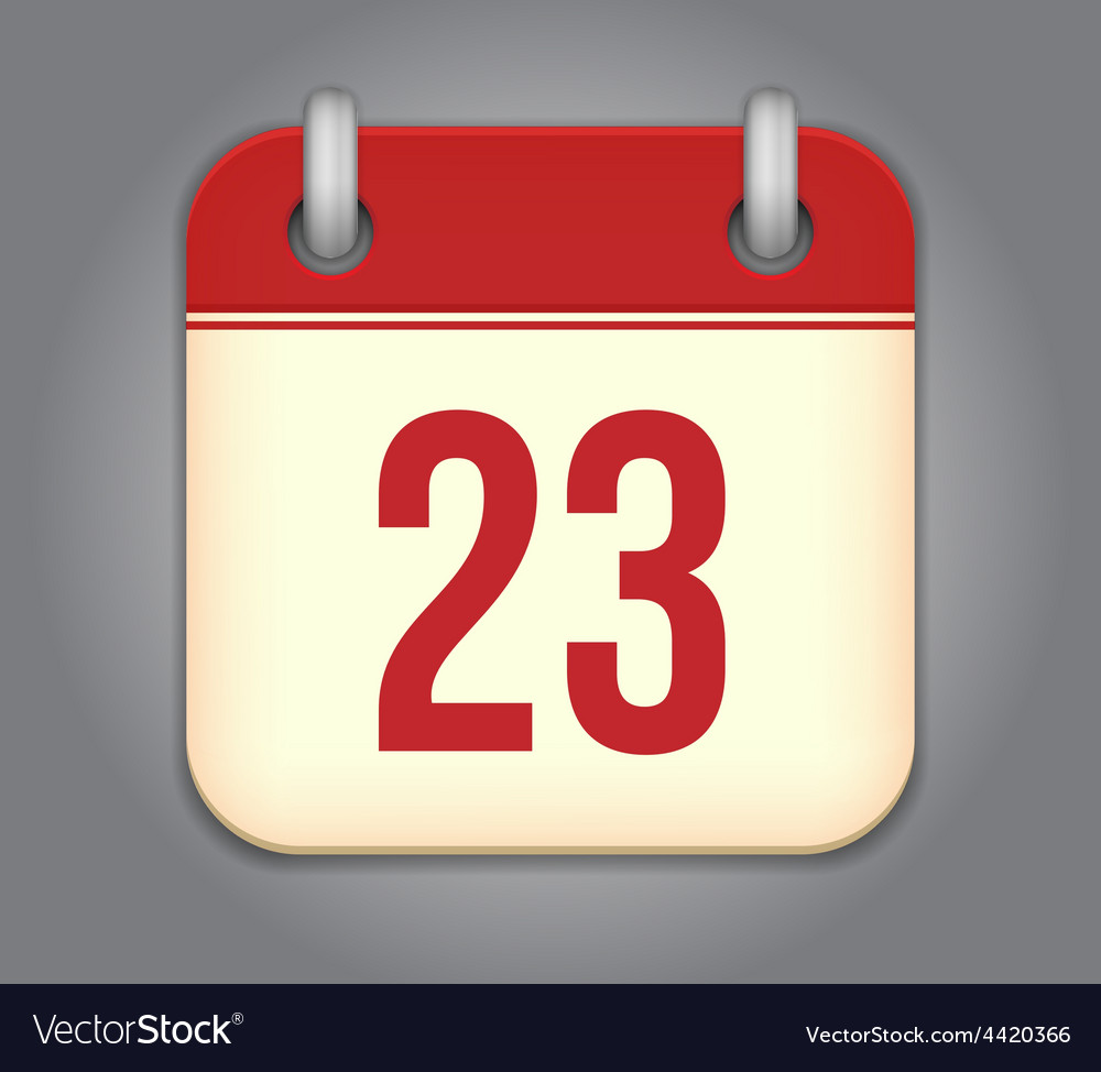 Calendar app icon vector | Price: 1 Credit (USD $1)