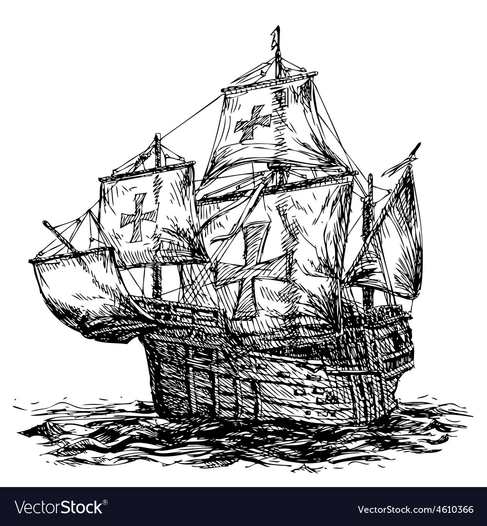 Columbus ship 01 vector | Price: 3 Credit (USD $3)