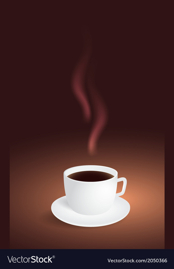 Cup of coffee on brown background vector | Price: 1 Credit (USD $1)