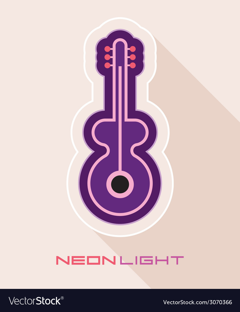 Guitar on light with shadow vector | Price: 1 Credit (USD $1)