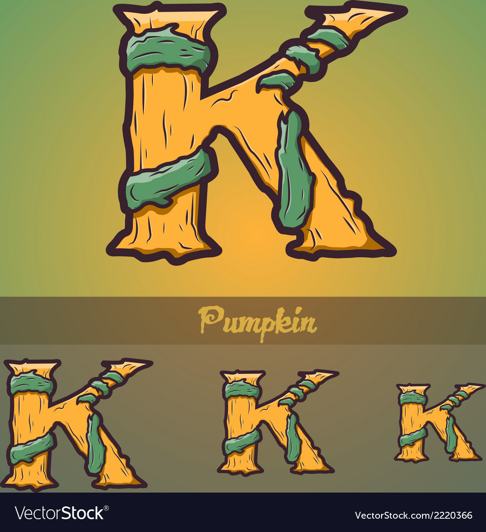 Halloween decorative alphabet - k letter vector | Price: 1 Credit (USD $1)