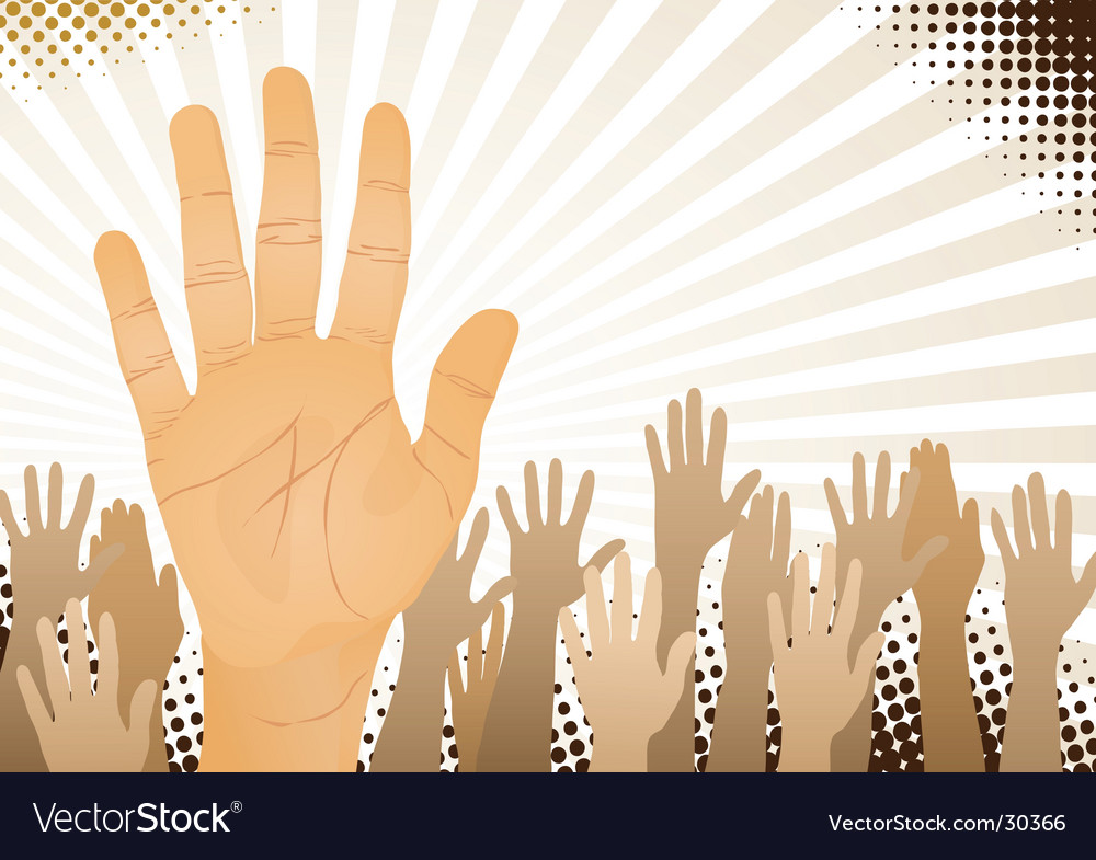 Hands up vector | Price: 1 Credit (USD $1)